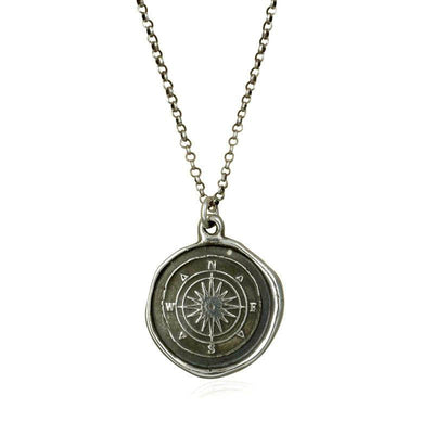 Compass Rose Wax Seal Necklace