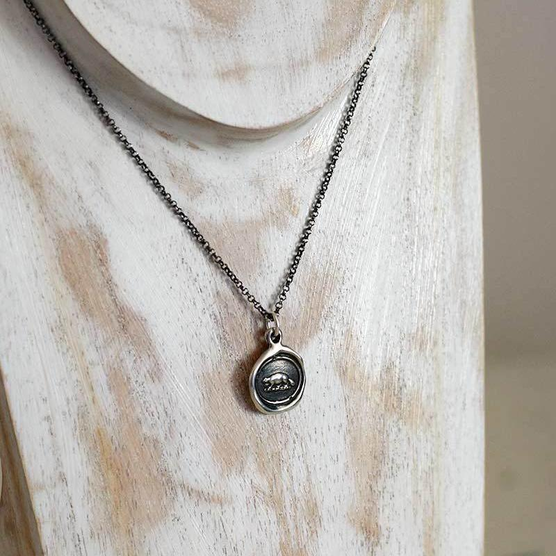 Industry and Perseverance Beaver Necklace