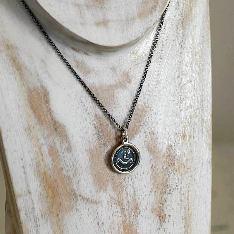 Confidence Wax Seal Necklace - Fist full of wheat - My Harvest Will Arrive