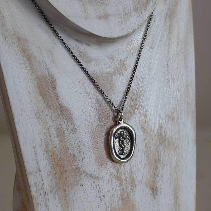 Eros Antique Wax Seal Necklace