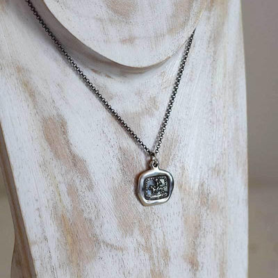 Faithfulness Conducts Me - Wax Seal  Necklace