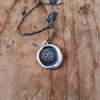Forget me not ~ True Love Wax Seal Necklace