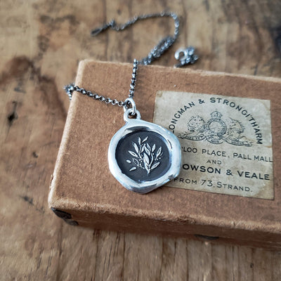 Laurels ~ Glory & Achievement Wax Seal Pendant