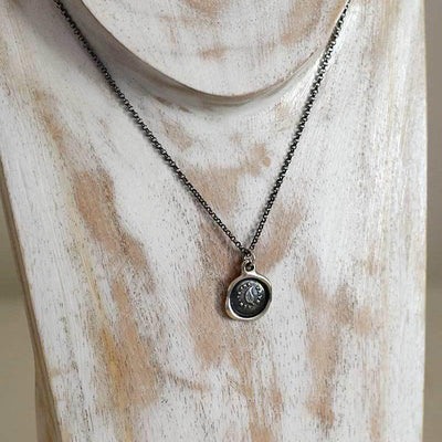 Always the Same - Leaf Pendant Wax Seal Necklace