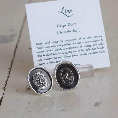 Lion Cufflinks - Carpe Diem