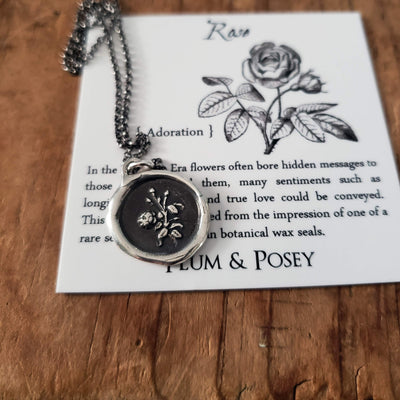 Rose Wax Seal Necklace - True love & Adoration