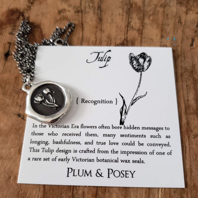Tulip Wax Seal Necklace - Recognition
