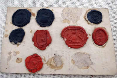 Amazing paper ephemera from May 1820 with antique wax seal impressions on back
