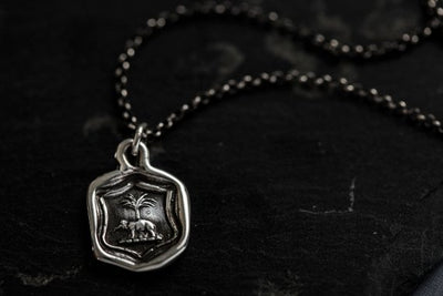 Elephant & Palm Necklace - Peace and Prosperity