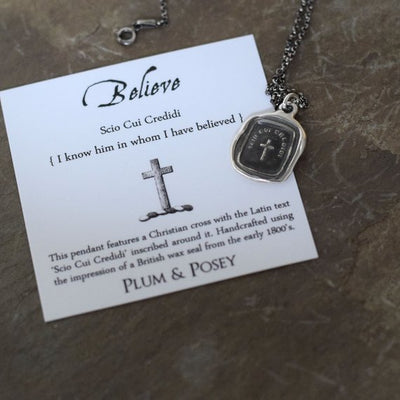 Cross Pendant - Believe