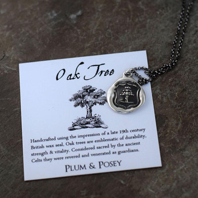 Oak Tree Necklace -  Strength, Vitality & Guardianship