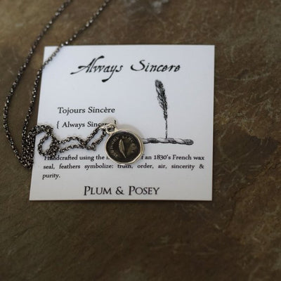 Always Sincere - Victorian Whimsy Wax Seal Necklace