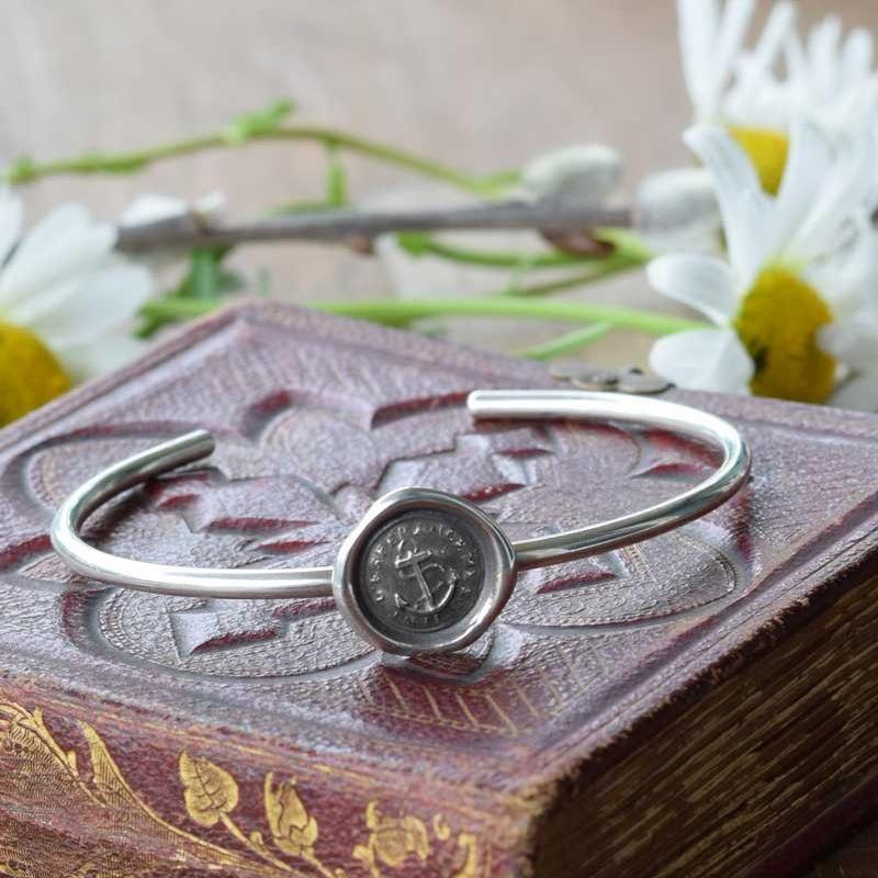 Hope Sustains Me - Victorian Anchor Wax Seal Bracelet