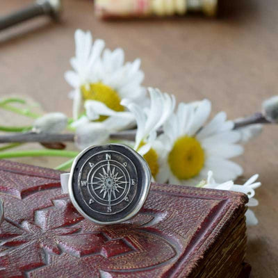 Compass Rose Wax Seal Ring
