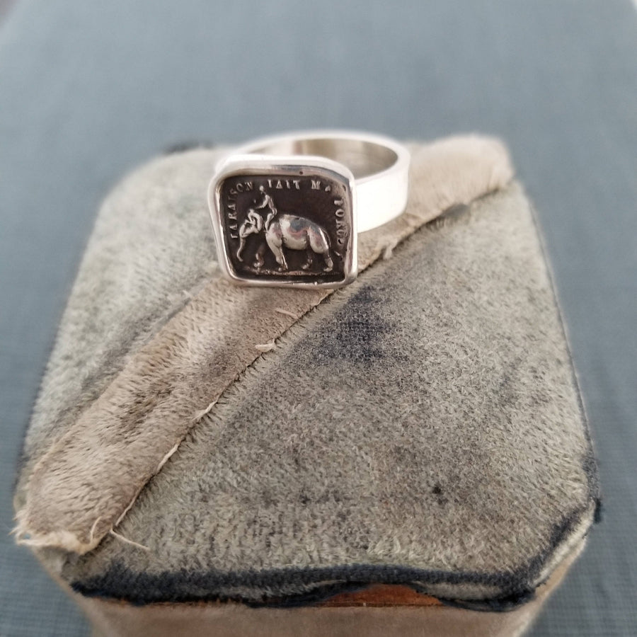 Elephant Strength Ring - Strength is my Virtue