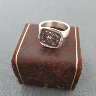 Swallow Wax Seal Ring -  Love and Loyalty