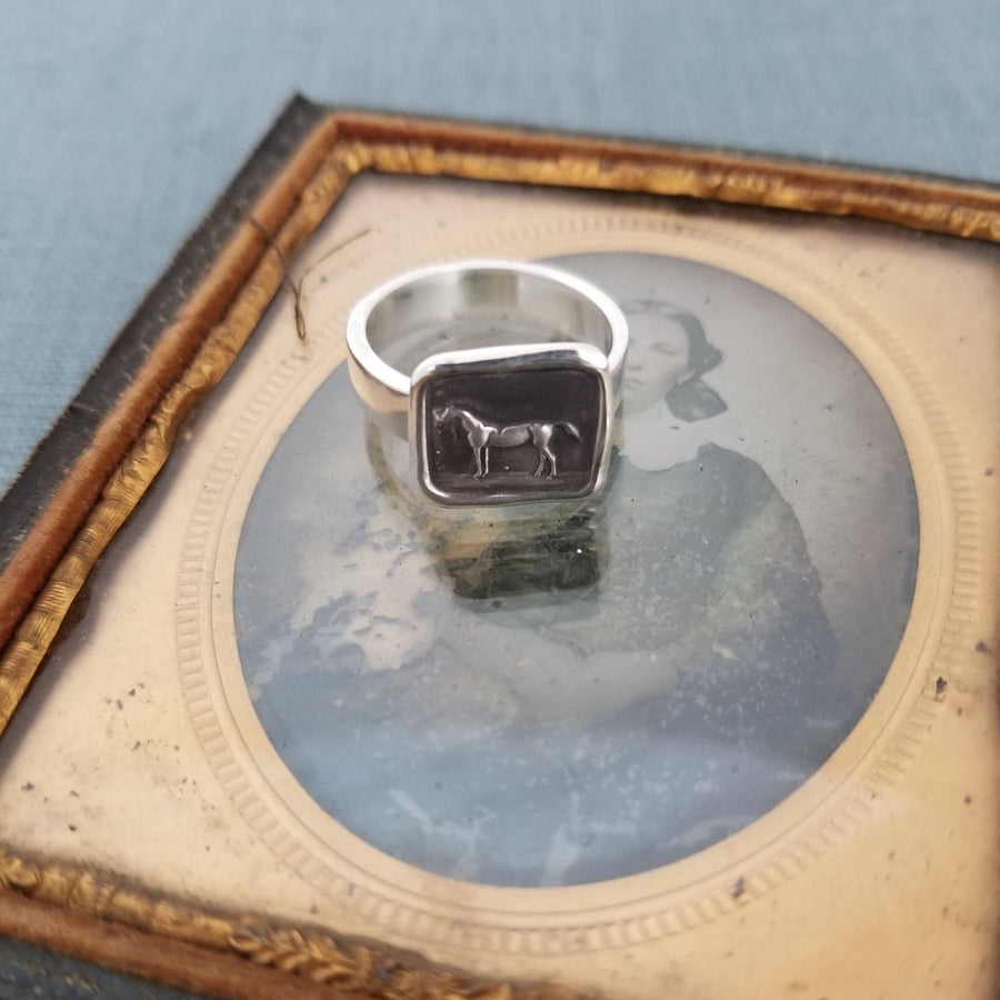 Horse Wax Seal Ring
