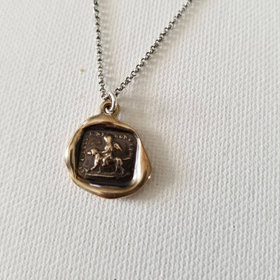 Bronze Faithfulness Conducts Me Necklace