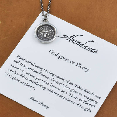 Bronze Abundance  Necklace - God gives us plenty