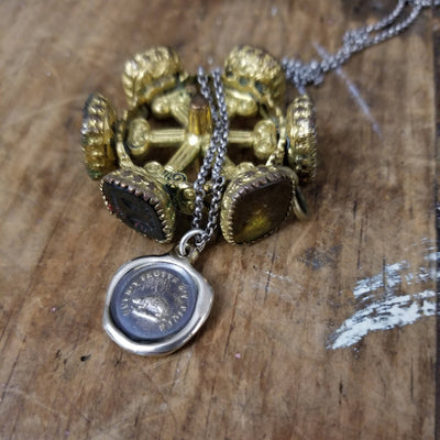 Bronze Hedgehog  Necklace - Not without my defences