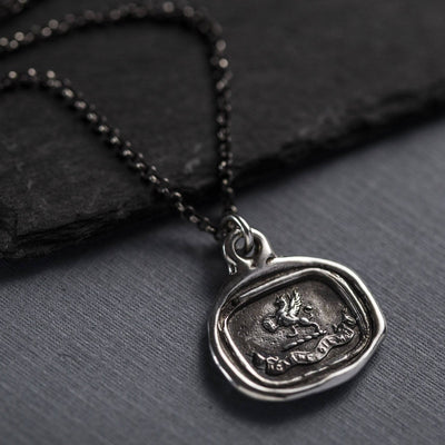 Gryphon Wax Seal Necklace - Carpe Diem - Seize the Day