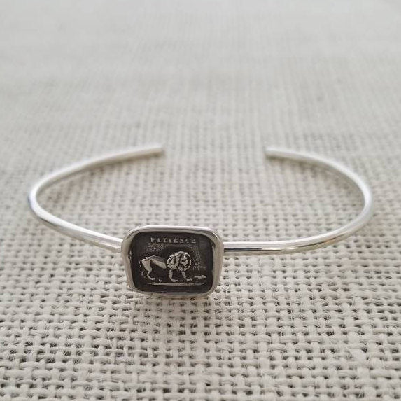 Lion and the Mouse Cuff Bracelet - Aesop's Fable