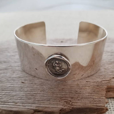 Mermaid Wax Seal Cuff Bangle Bracelet