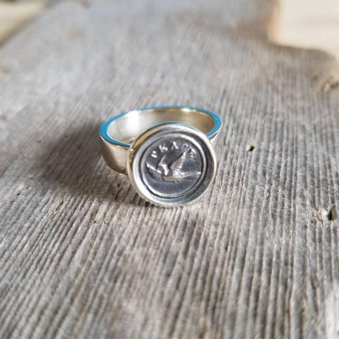 Peace Dove Wax Seal Ring