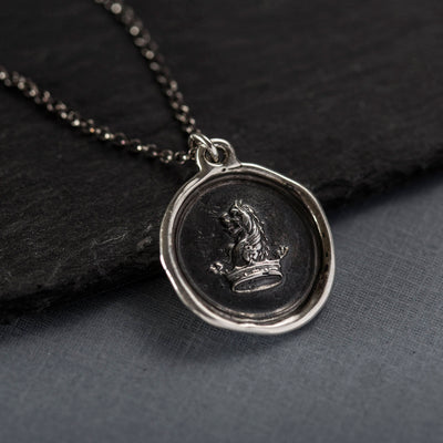 Courage to Dream, Lion & Crown - Wax seal Jewelry