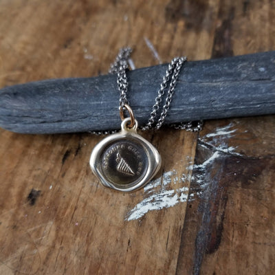 Bronze Self Assurance Crab Wax Seal Necklace - Always at Home