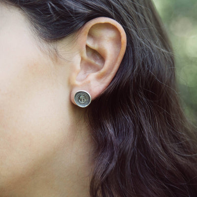 Swallow Wax Seal Earrings - Always Wandering Love and Loyalty