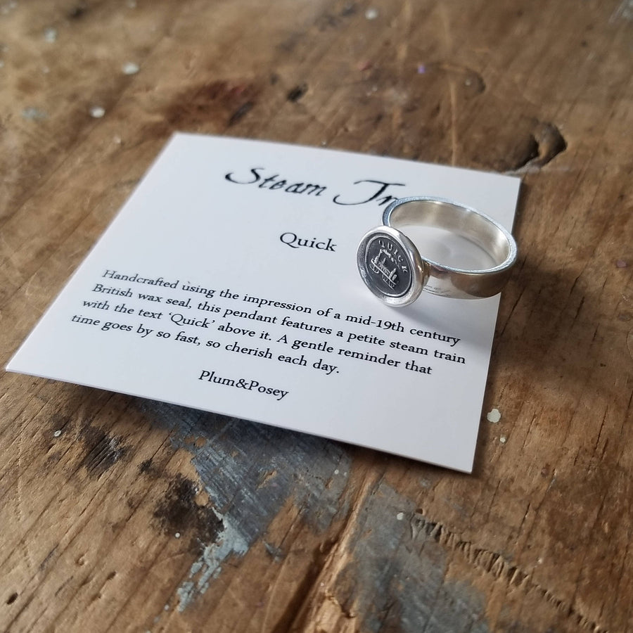 Quick! Wax Seal Ring, Train - Whimsy Ring