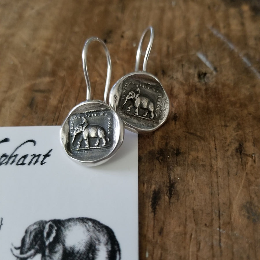 Elephant Strength  hook earrings