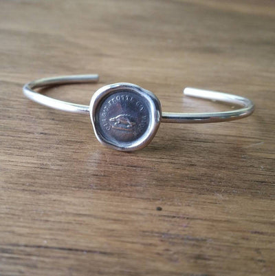 Hedgehog Wax Seal Cuff Bangle Bracelet - Not without my defences - Don't rub me the wrong way