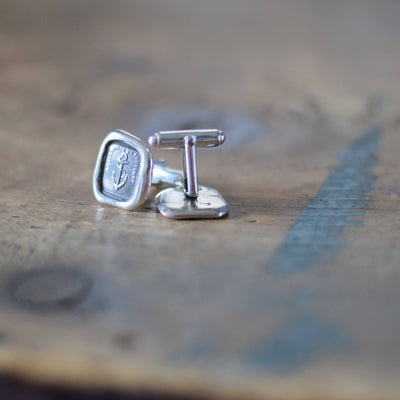 Anchor Cufflinks -  Hope Anchor Wax Seal Cufflinks