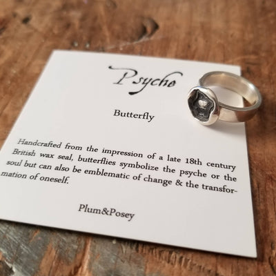 Psyche Butterfly Wax Seal Ring