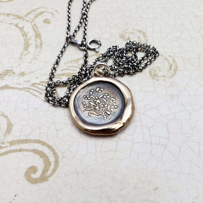 Forget Me Not Necklace in Bronze