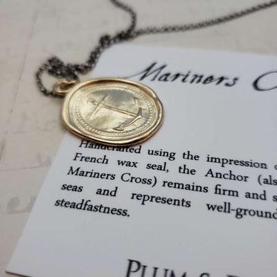 Mariners Cross Anchor in Gold Vermeil