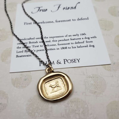 Dog - True Friend Necklace in Gold Vermeil