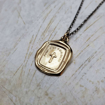 Christian Cross Necklace in Gold Vermeil