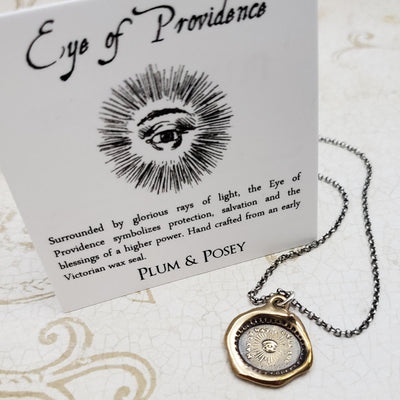 Eye of Providence Pendant Necklace in Bronze