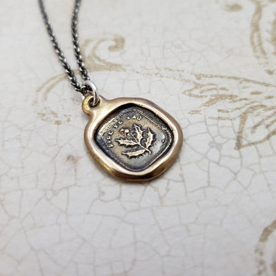 Scottish Thistle 'Bide Your Time' Necklace in Bronze