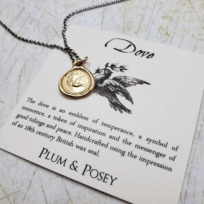 Peace Dove Necklace in Gold Vermeil