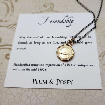 Friendship - Clasped Hands Friendship Necklace in Gold Vermeil