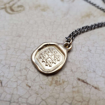 Jerusalem Cross in Gold Vermeil