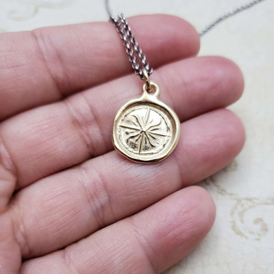 Windrose Compass in Gold Vermeil
