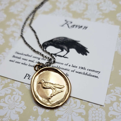 Nevermore Raven in Gold Vermeil
