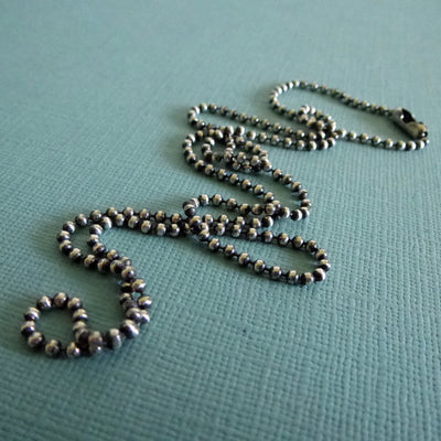 Oxidized 2mm Sterling Silver Ball Chain