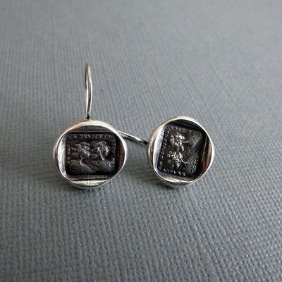 In Vain Destiny Seperates Us - Wax Seal Earrings