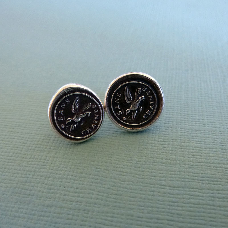 Fearless Eagle Wax Seal Earrings